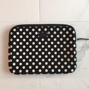 Kate Spade polka dot laptop case